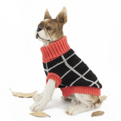 Теплий в'язаний джемпер для собаки